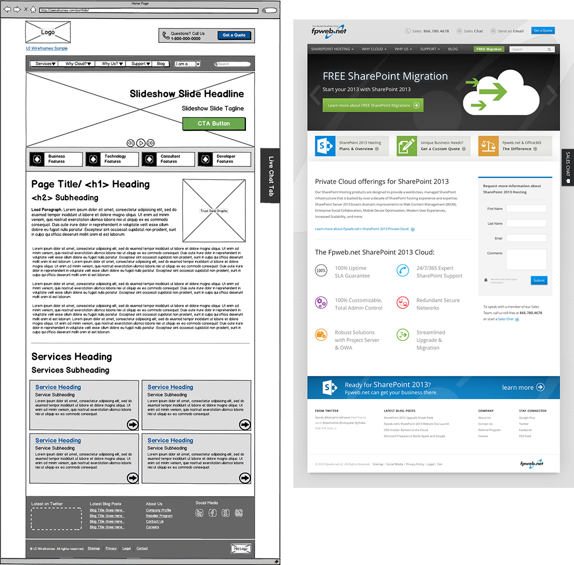 Website Wireframe Thumbnail