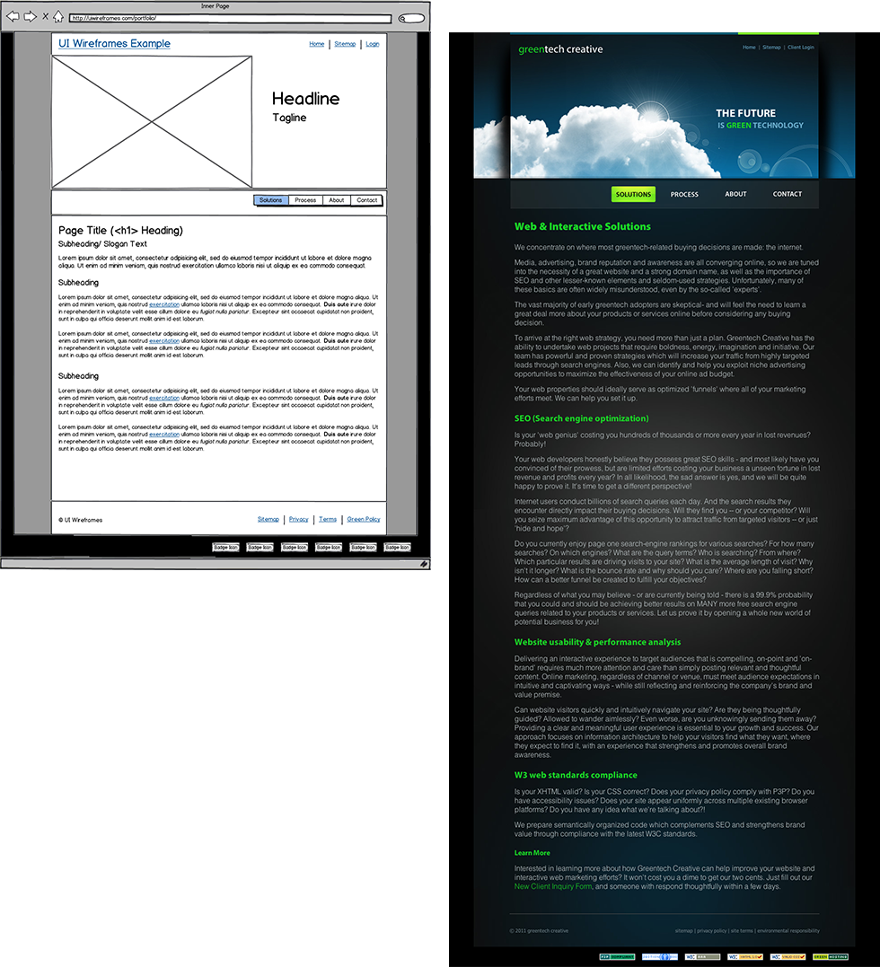 Contact Us Page Examples: Even More Website Wireframes