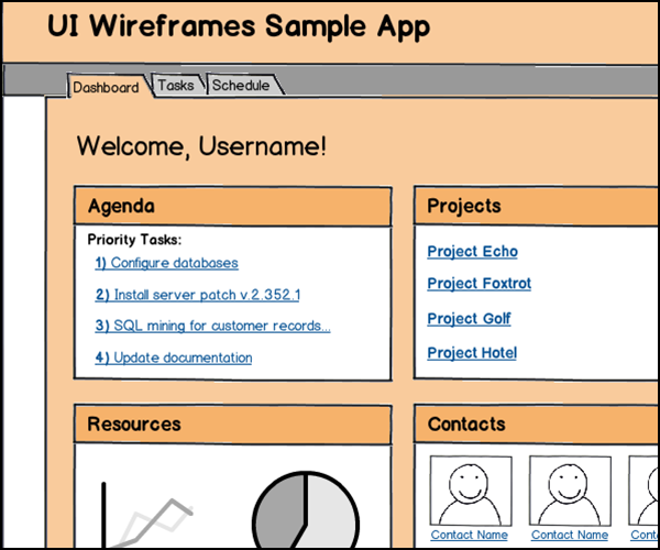 Web App Wireframes Gallery Thumbnail