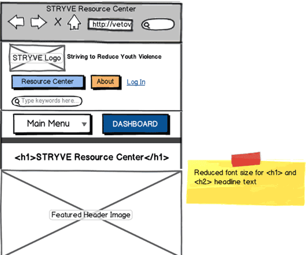 Responsive Web App Wireframe Thumbnail