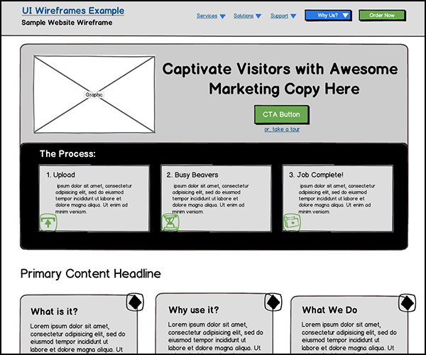 Responsive Website Wireframes Gallery Thumbnail
