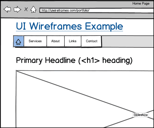 Website Wireframes Gallery Thumbnail